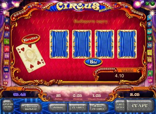 La ronda de doblar la ranura Circus HD