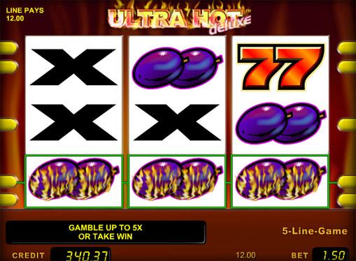 Los signos de la ranura Ultra Hot Deluxe