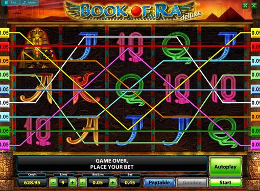 Los carretes de slot Book of Ra Deluxe