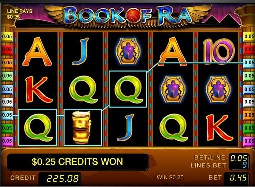 Los carretes de slot Book of Ra