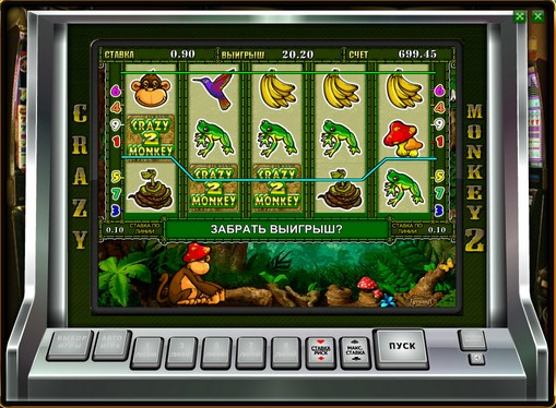 Los carretes de slot Crazy Monkey 2
