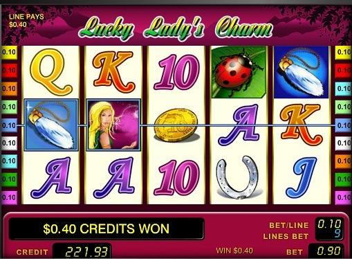 Los carretes de slot Lucky Lady's Charm