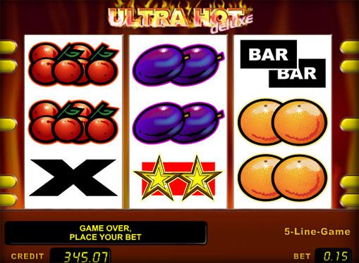 Los carretes de slot Ultra Hot Deluxe