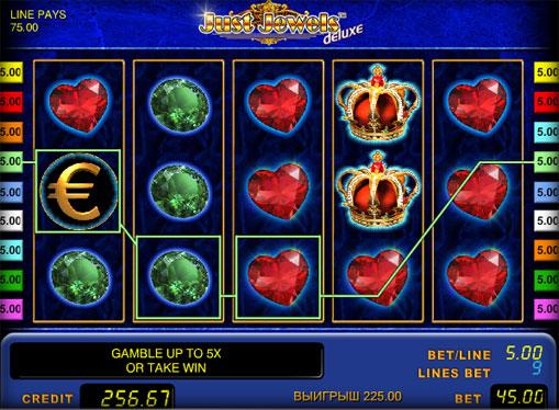 Just Jewels Deluxe juega el tragamonedas en línea
