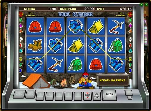 Línea ganadora de slot Rock Climber